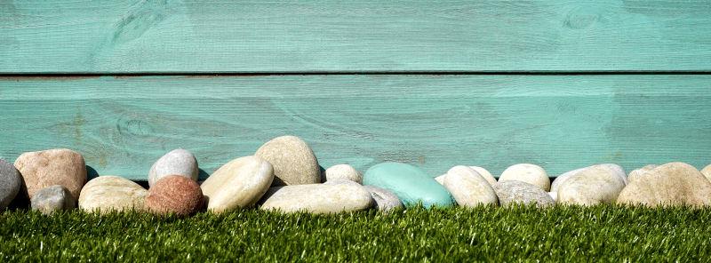 illustration bordure d'une pelouse artificielle